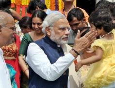 Narendra Modi at GM Halamma PU college inauguration in Davanagere