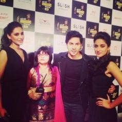 Nargis Fakhri, Varun Dhawan and Ileana D'Cruz at Mirchi Music Awards 2014