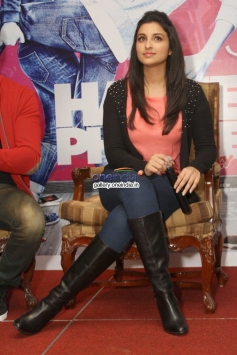 Parineeti Chopra during the film Hasee Toh Phasee press conference at Delhi