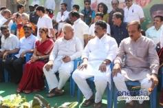 Politicans at Dr. Vishnuvardhan Inauguration