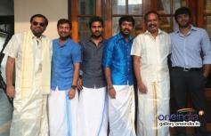 Premji, Jai and Venkat Prabhu at Vj Ramya and Ajith Jayaraman Wedding
