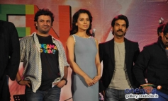 Kangna Ranaut and Raj Kumar Yadav at Queen music launch