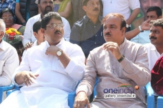 R Ashok  & Ram Linga Reddy at Dr. Vishnuvardhan Road inauguration