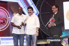 Rajendran and Powerstar at 7th Year Edison Awards 2014