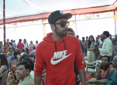 Ranbir Kapoor arrives at Anurag Basu's Saraswati Pooja celebrations