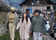 Randeep Hooda and Alia Bhatt on the sets of film Highway