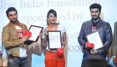 Ranveer Singh, Priyanka Chopra and Arjun Kapoor at Welingkar College