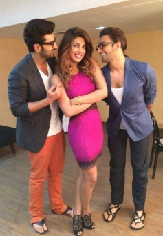 Ranveer Singh, Priyanka Chopra and Arjun Kapoor promote their film Gunday