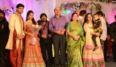 RB Choudary and Supriya Jeeva at T Rajendar Daughter Ilakiya Wedding Reception