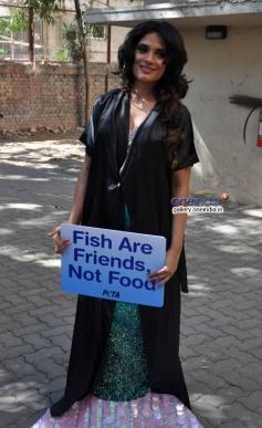 Richa Chadda Turns Mermaid For PETA India