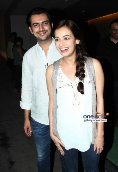 Sahil Sangha and Dia Mirza at Shaadi Ke Side Effects special screening