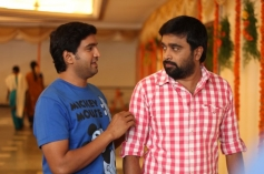 Santhanam and Sasi Kumar still from film Bramman