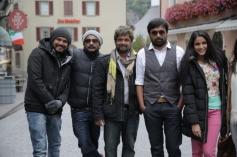 Sasi Kumar and Lavanya Tripathi still from on the sets of film Bramman