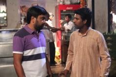 Sasi Kumar and Soori still from film Bramman