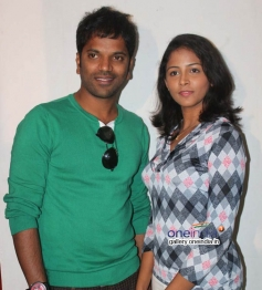 Sathish Ninasam, Subhiksha at Anjada Gandu Success Meet