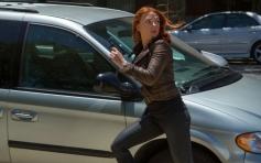 Scarlett Johansson still from film Captain America The Winter Soldier