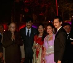 Senior BJP leader LK Advani at Ahana Deol's Delhi wedding reception