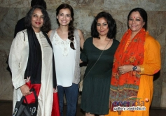 Shabana Azmi, Dia Mirza and Divya Dutta at Shaadi Ke Side Effects special screening