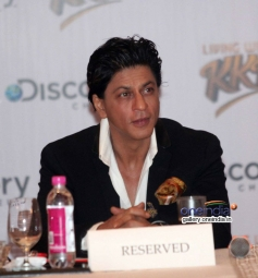 Shah Rukh Khan at Discovery Channel's new show Living with KKR launch