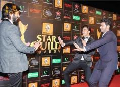 Shahid Kapoor, Ranveer SIngh & Arjun Kapoor atStar Guild Awards 2014