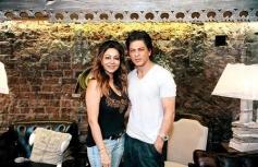 Shahrukh Khan at wife Gauri KhanThe Design Cell store launch