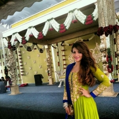 Shama Sikander at Siddharth Kannan and Neha Agarwal wedding
