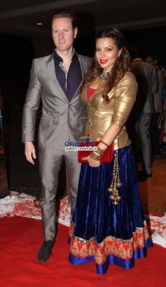 Shama Sikander with her boyfriend Alexx at Siddharth Kannan and Neha Agarwal wedding reception