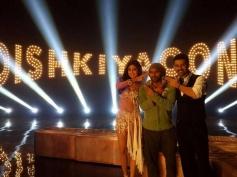 Shilpa Shetty and Harman Baweja on the sets of Dishkiyaoon