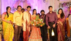 Shiva and Bharath at T Rajendar Daughter Ilakiya Wedding Reception