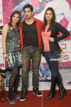 Sidharth Malhotra and Parineeti Chopra during the film Hasee Toh Phasee promotion at Delhi