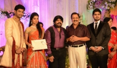 Sivakumar at T Rajendar Daughter Ilakiya Wedding Reception