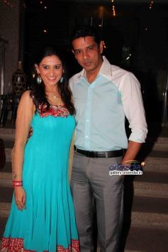 Smita Bansal and Anoop Soni at success party of TV serial Balika Vadhu
