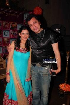 Smita Bansal and Avinash Wadhawan at success party of TV serial Balika Vadhu