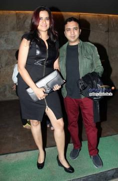 Sona Mohapatra with husband Ram Sampath at Shaadi Ke Side Effects special screening