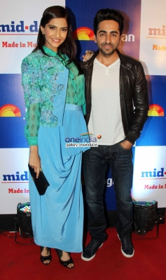 Sonam Kapoor and Ayushmann Khurrana at Mid Day newspaper's relaunch party