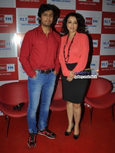 Sonu Nigam with wife Madhurima Nigam appeared at a radio station to celebrate Valentine's Day