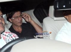 SRK arrives at Abhishek Bachchan 38th birthday bash