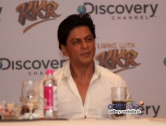 SRK at Discovery Channel's new show Living with KKR launch