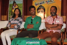 Subhiksha, Sathish Ninasam at Anjada Gandu Success Meet