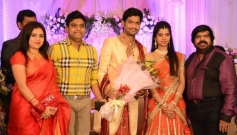 Suma, Harris Jayaraj at T Rajendar Daughter Ilakiya Wedding Reception
