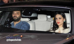Sunny and Anu Dewan snapped at Mannat on SRK's party
