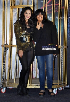 Sunny Leone with Ekta Kapoor at Baby Doll song launch
