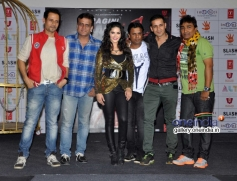 Sunny Leone with singers at Baby Doll song launch