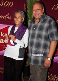Sureka Sikri and Sudhir Pandey at success party of TV serial Balika Vadhu
