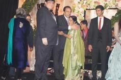 Sushma Swaraj at Ahana Deol's Delhi wedding reception