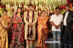 Jaggesh at SV Babu son Sanjay Babu marriage reception with Soundarya