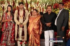 Ramakrishna at SV Babu son Sanjay Babu marriage reception with Soundarya