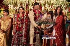Aindrita Ray at SV Babu son Sanjay Babu marriage reception with Soundarya