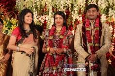 Radhika Kumaraswamy at SV Babu son Sanjay Babu marriage reception with Soundarya