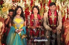 Priya Hassan at SV Babu son Sanjay Babu marriage reception with Soundarya